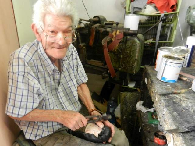 Shoemaker in Palermo photo by Margie Miklas