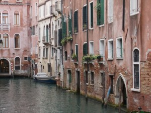 Along a canal in Venice ~ Photo by Margie Miklas