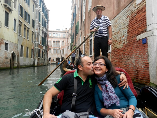 Angela and Alessandro shared a gondola ride with me!