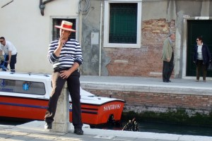 A gondolier in Venice Photo by Margie Miklas