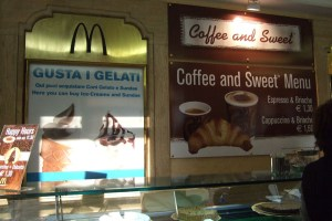 McDonalds's in Rome Gelato and Coffee