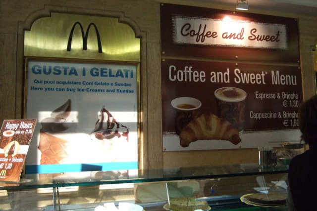 McDonalds's in Rome Gelato and Coffee