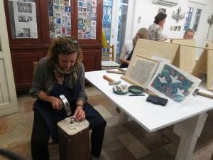 Felicia Funderburk, creator, designer, and owner of Fragments Mosaic Studio