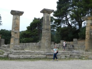 Photo by Margie Miklas - Ruins of the Temple of Hera in Olympia, Greece