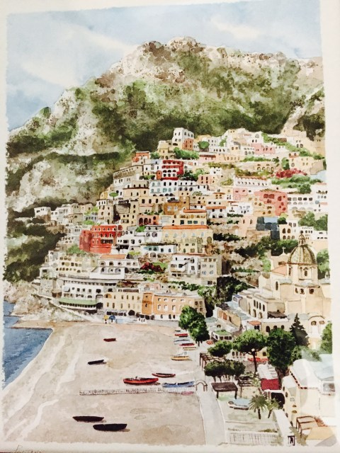 Photo by Margie Miklas - A painting of Positano