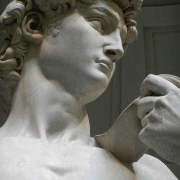 Inside the Accademia Gallery in Florence