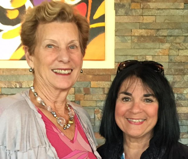 With Margie Miklas PBGardens 1-15 Photo by Pamela Carey