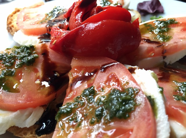 Caprese salad - Photo by Margie Miklas Arthur avenue Bronx