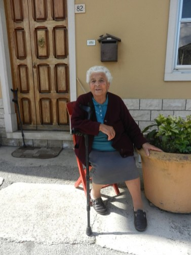 An Italian woman in Colle d'Anchise, Italy Photo by Margie Miklas