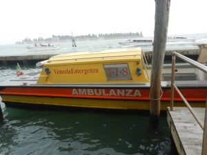 Water ambulance in Venice - Photo by Margie Miklas