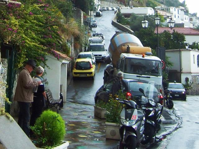 Driving in Positano
