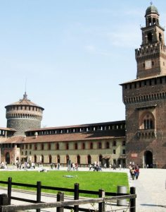 Sforza Castle Milan Source: https://commons.wikimedia.org/wiki/File:Sforza_Castle_Milan_from_internal_Court_yard.JPG