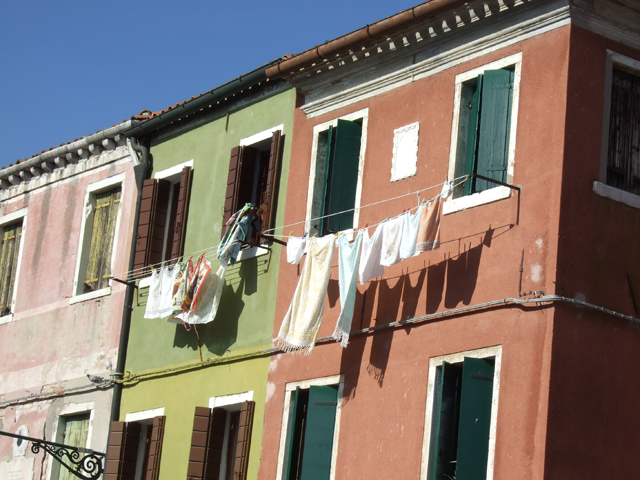 Burano laundry photo by Margie Miklas