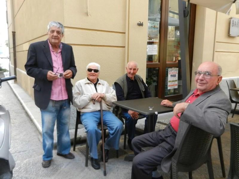 Older gentlemen in Trapani -Photo by Margie Miklas
