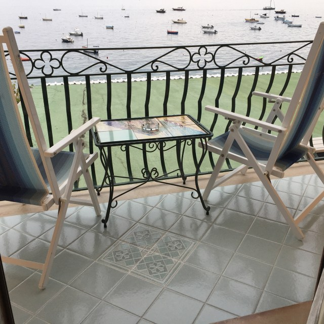 My balcony at Hotel Pupetto in Positano Photo by Margie Miklas