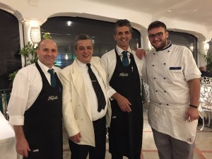 Hotel Pupetto waiters and manager Photo by Margie Miklas