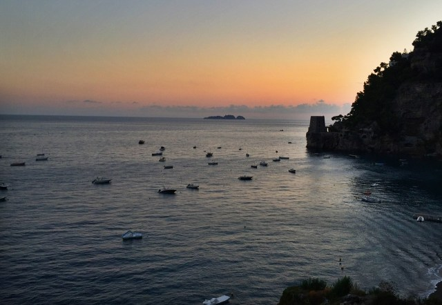 Positano sunset photo by Margie Miklas