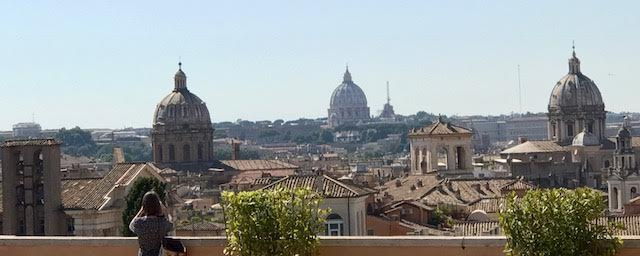 Rome View from Caffe on Capital Hill Photo by Margie Miklas