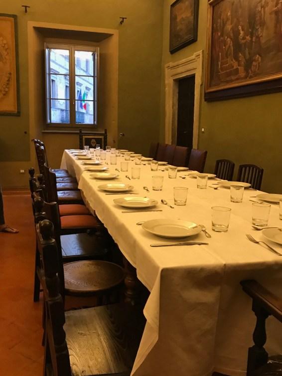 Dinner Palazzo Donati Photo by Margie Miklas