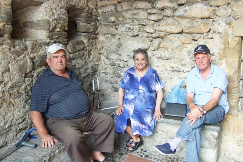 Italian men and women in Apricale Photo by argie Miklas