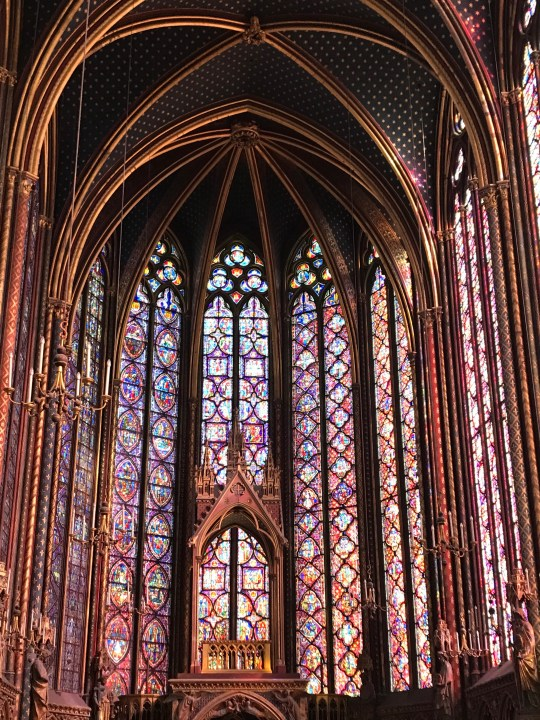 Mosaics in Sainte-Chapelle in Paris photo by Margie Miklas