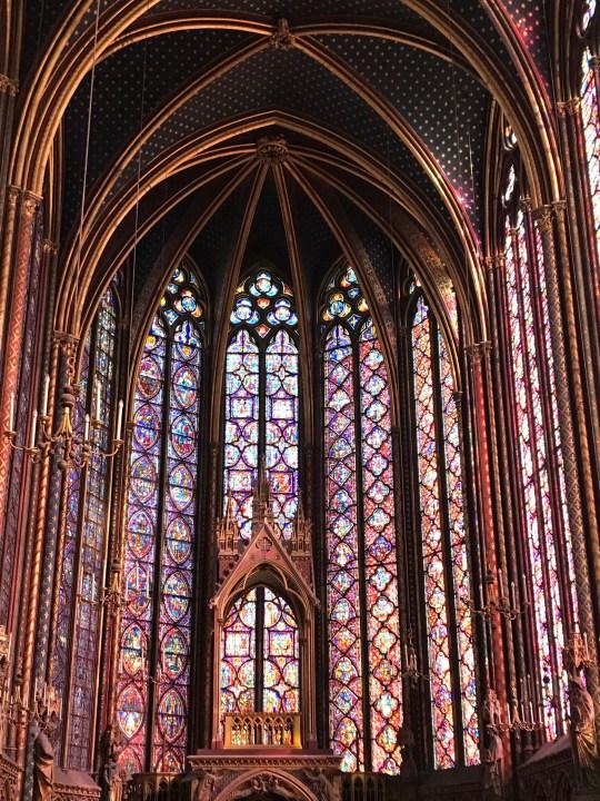 Mosaics in Sainte-Chapelle in Paris photo by Margie Miklas