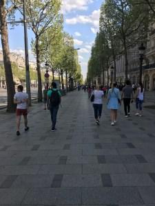 Champs Elysées, Paris Photo by Margie Miklas