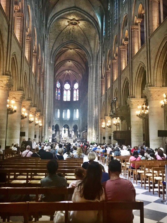 Inside Notre Dame in Paris Photo by Margie Miklas