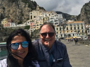 Richard and me in Amalfi Photo by Margie Miklas