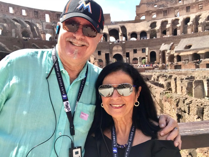 Richard and me at the Colosseum Photo by Margie Miklas