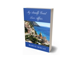 My Amalfi Coast Love Affair book cover 3D Photo by Margie Miklas