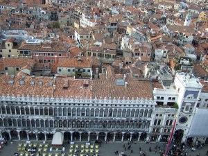 View of St Mark's Square from above Photo by Margie Miklas