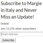 Margie in Italy Subscribe screenshot