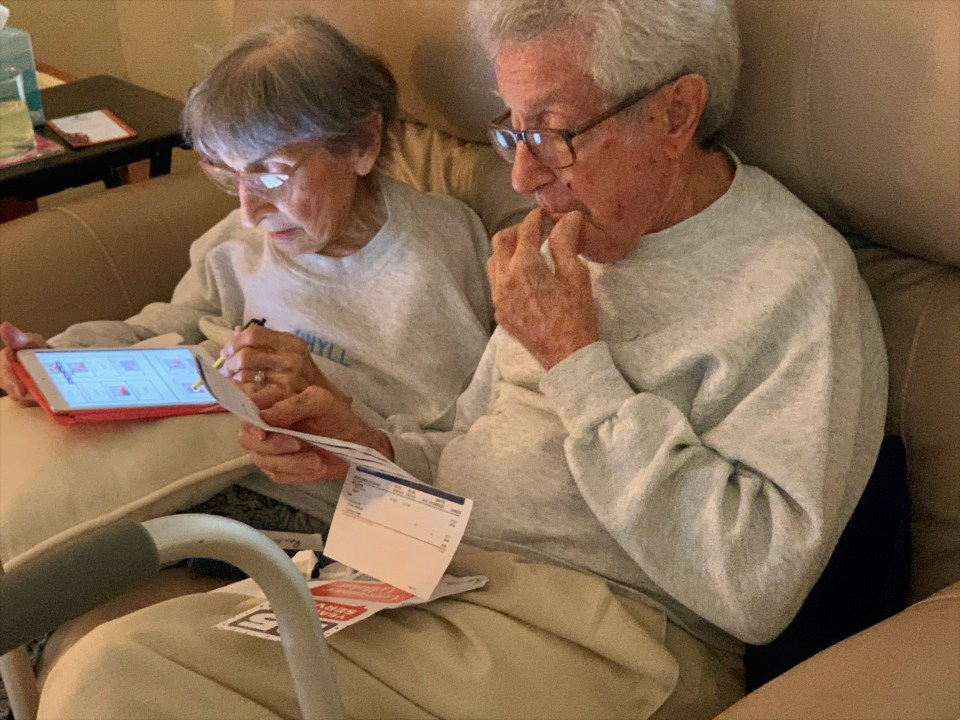 Mom and Dad reading