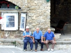 Italian men hanging out