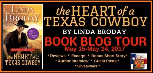 THE HEART OF A TEXAS COWBOY Men of Legend, Book 2 by LINDA BRODAY