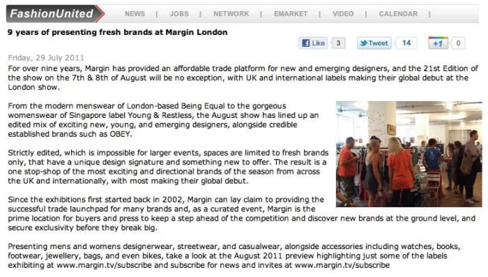 Margin London + FashionUnited
