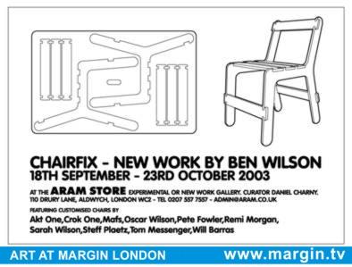 Chairfix going onto exhibit at Aram