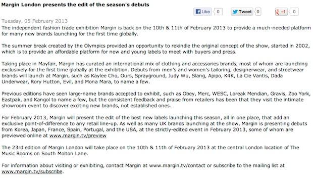 Margin London : FashionUnited + Margin London presents the