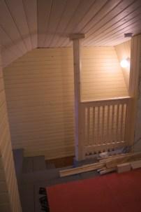 Das Geländer von oben gesehen