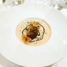 Velouté aux champignons et foie gras