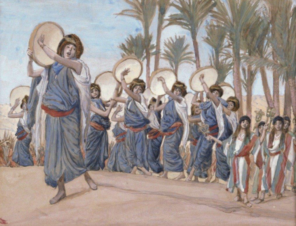 wailing women, Bible, Miriam, Jephthah's daughter