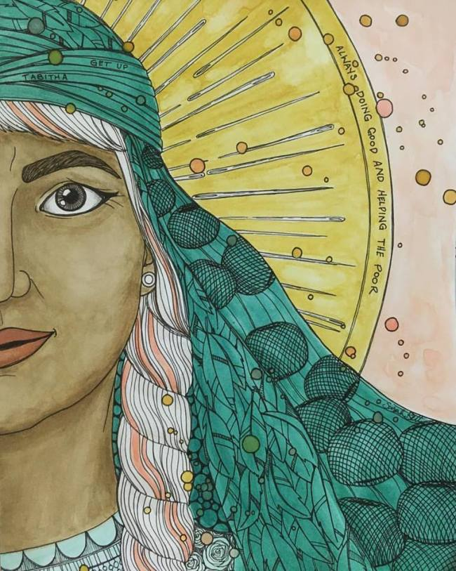 Bible story Tabitha Dorcas widows Acts 9