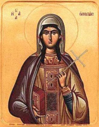 Icono de Olimpia el Diakonissa