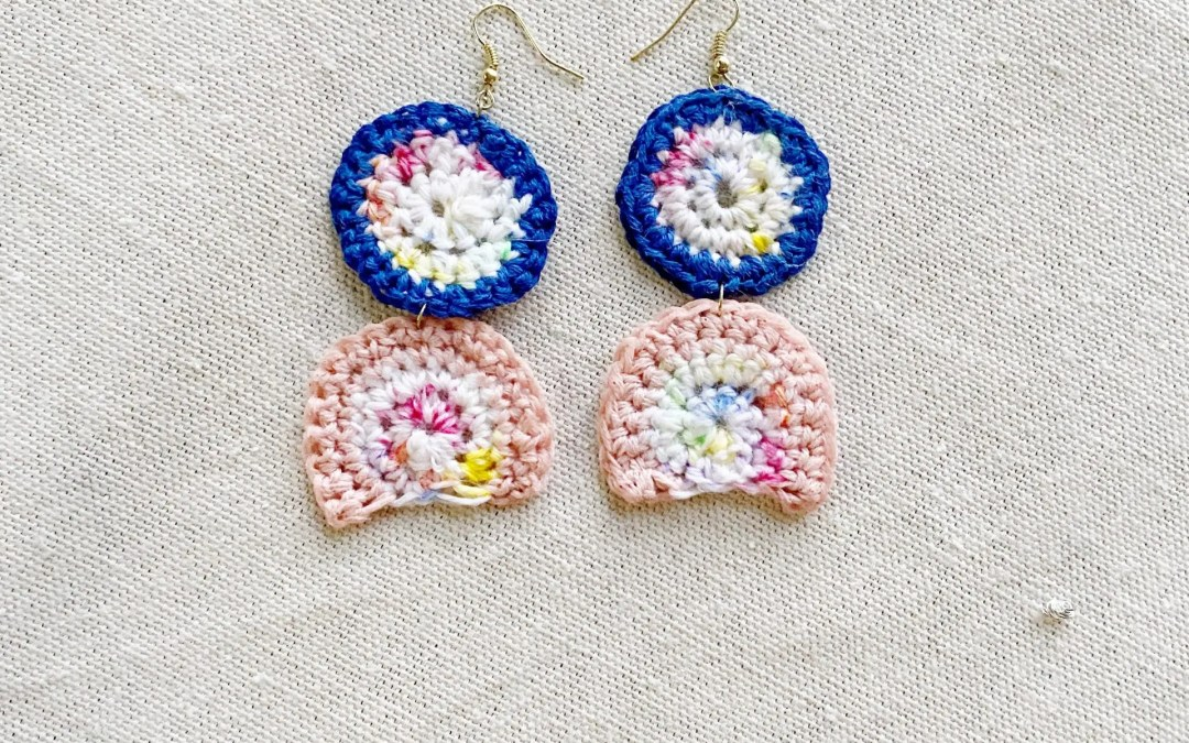 Crochet Rainbow Arc Earrings DIY Pattern and Tutorial