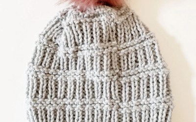 Easy Rib Beanie Knitting Pattern