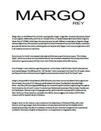 Margo Rey Bio and Previous Venues