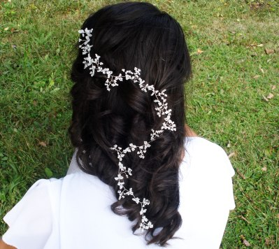 wedding-hair-accessories-white-wire-silver-pearl-vintage-rustic-handmade-vine