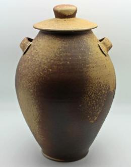 wood-fired stoneware jug by lynn munns