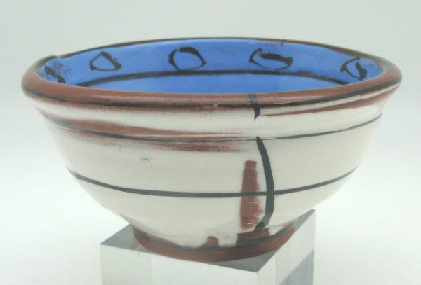 blue brown white Bowl by Victoria Christen